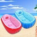 Uso en El hogar Del Bebé Inflable Piscina de Agua de PVC Cuadrados De Natación de Baño Asientos Soporte Piscina Bebe Zwembad Azul y Rosa de Color