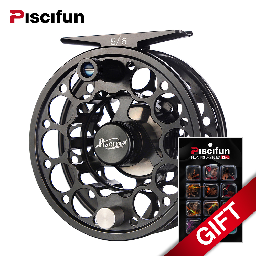 Piscifun Sword Fly Fishing Reel 3/4 5/6 7/8 9/10 CNC Machined T6061 Aluminum Alloy Fly Reel, Light Weight yet Incredibly Strong maximumcatch hvc 7 8 weight exclusive super light fly reel chinese cnc fly fishing reel large arbor aluminum fly reel