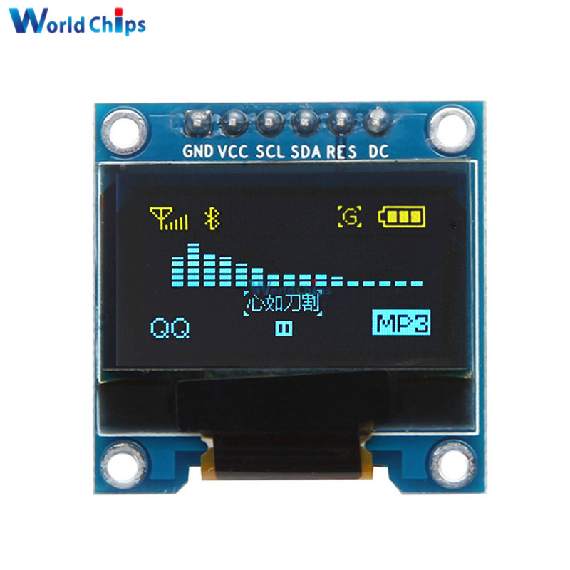 0.96 Inch 6Pin 12864 SPI  IIC I2C OLED Yellow Blue LCD Display Module 0.96'' For Arduino 51 SMT32 Internal Drive Chip SSD136 DIY