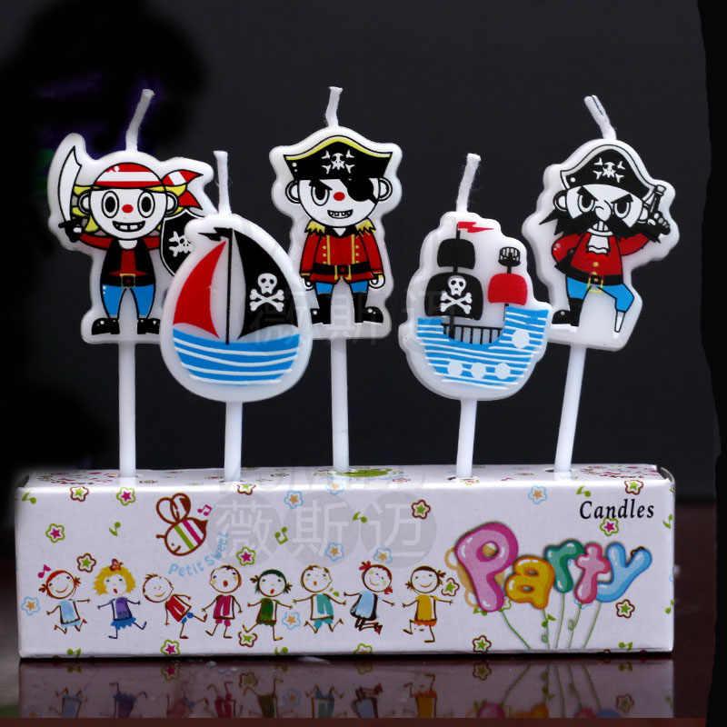 Wondrous 5Pcs Pirates Of The Caribbean My Little Pony Cartoon Party Funny Birthday Cards Online Aeocydamsfinfo