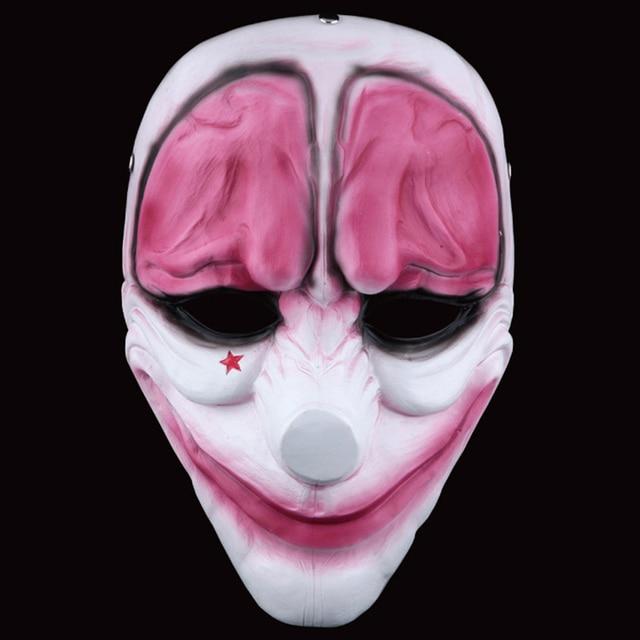 Cerebro de terror Rojo Resina Máscara De Halloween Terror Máscara ...