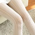 Fashion Winter Women Socks Body Stovepipe Shaping Lace Vertical Strips Pantyhose For Women Warm Attractive Nylon