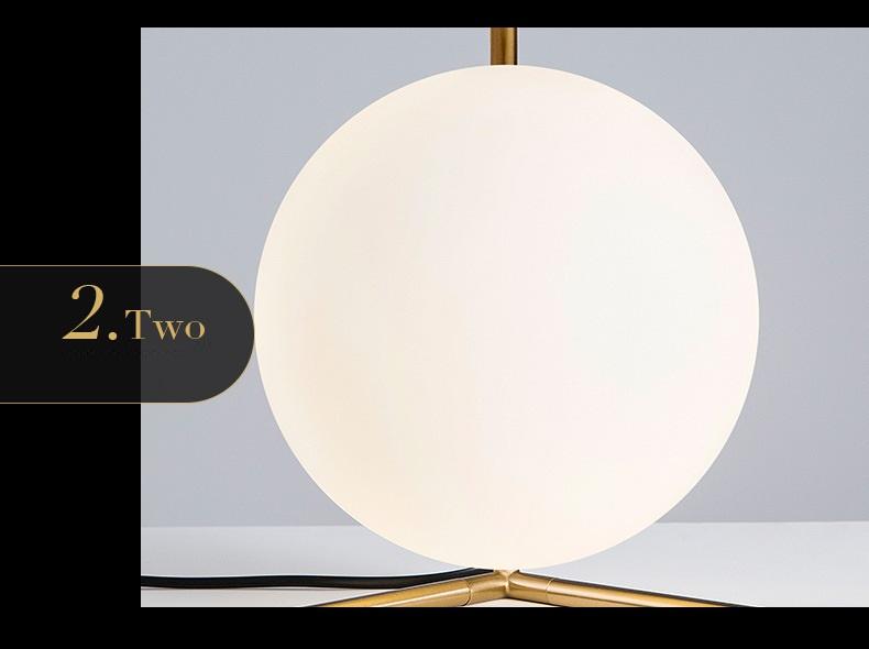 Modern LED Table Lamp Desk Lamp Light Shade Glass Ball Table Lamp Desk Light for Bedroom Living Room Floor Conner Gold Designs (8)