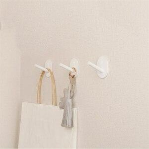 Image 4 - 3 parça Youpin HL küçük yapıştırıcı çok fonksiyonlu kanca/duvar paspas kanca güçlü banyo yatak odası mutfak duvar kanca 3kg max loa