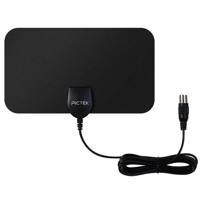 Pictek 25dBi Signal Booster HDTV Amplificada Antena Digital Indoor com Destacável, otimizado-Borboleta Em Forma de Imagem para a UE/EUA
