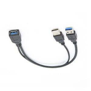 Image 3 - Câble USB 0.3 femelle vers double USB mâle 3.0 M, avec puissance supplémentaire et câble dextension pour données 2.5 pouces