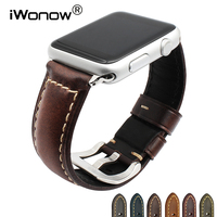 Italy Genuine Oil Leather Watchband For IWatch Apple Watch 38mm 42mm Series 3 2 1 Band