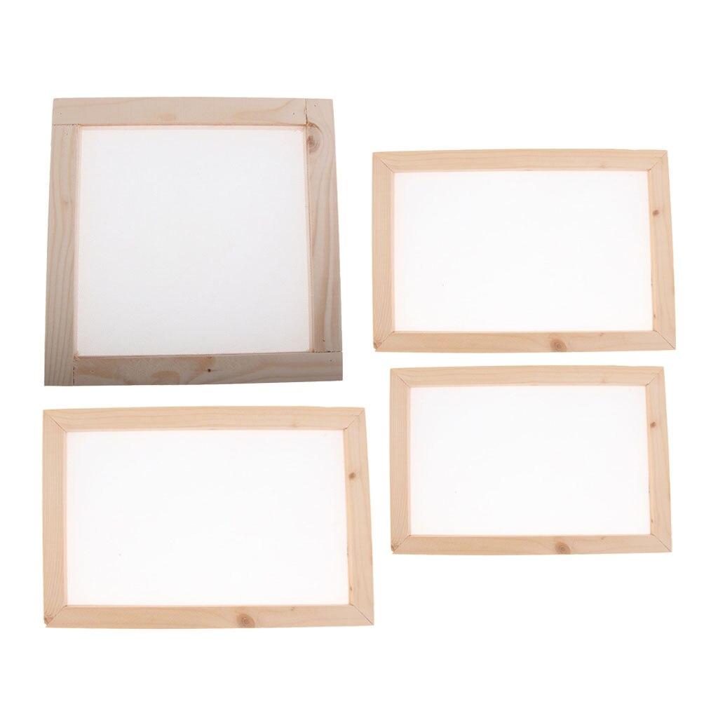 3 Set Wooden Paper Making Mould Frame Screen for DIY Paper Handcraft 20x30cm