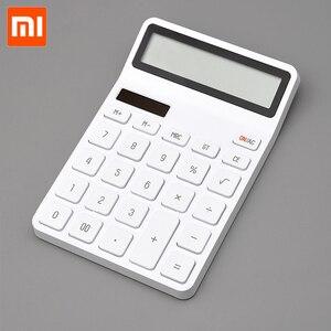 Image 1 - Xiaomi Mijia Lemo Desktop Rekenmachine Optische Dual Drive 12 Nummer Display Automatische Uitschakeling Calculator Voor Kantoor Financiën