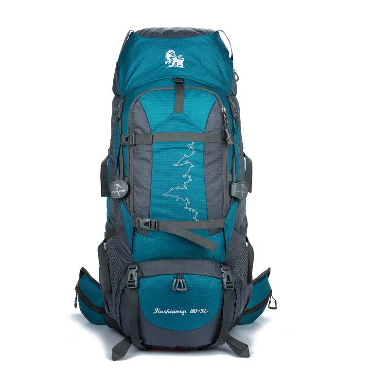 2018 New 85L Men backpacks Waterproof Nylon Backpacks Unisex Casual large capacity Multi function Backpacks free
