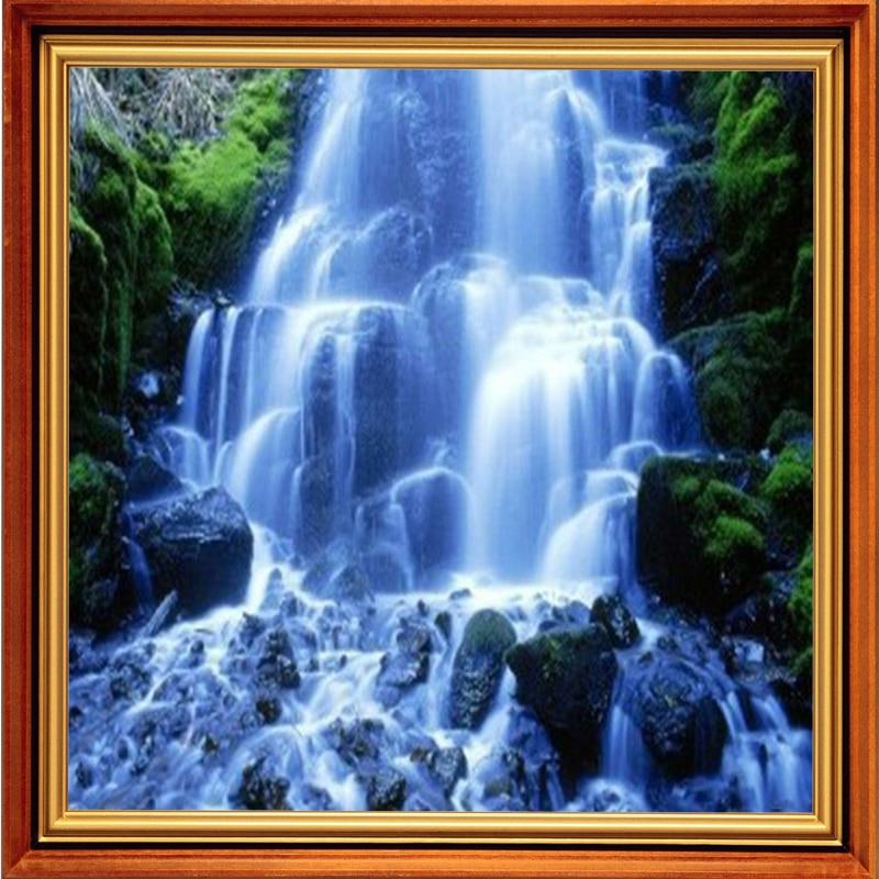 Вышивка природа водопады