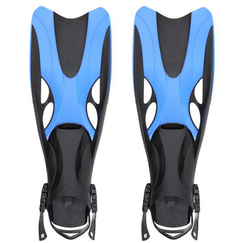 New Adult Swimming Fins Adjustable Submersible Long Fins Snorkeling Foot Swimming Flipper Diving Fins 2 Size hot 2016 new teen teenager foot swimming fins flippers swim fin swimming foot flipper diving monofin mermaid tail
