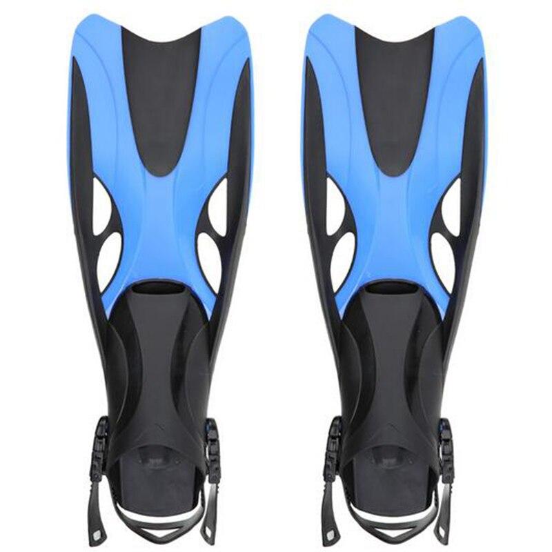 Nouveau Adulte De Natation Ailettes Réglable Submersible Longues Nageoires Snorkeling Pied De Natation Flipper Palmes de Plongée 2 Taille
