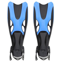 New Adult Swimming Fins Adjustable Submersible Long Fins Snorkeling Foot Swimming Flipper Diving Fins 2 Size