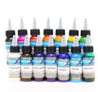 100pcs Tattoo Ink 14 Colors Set 1 oz 30ml/Bottle Tattoo inks Pigment Kit for Tatoo makeup beauty skin body art Permanent makeup