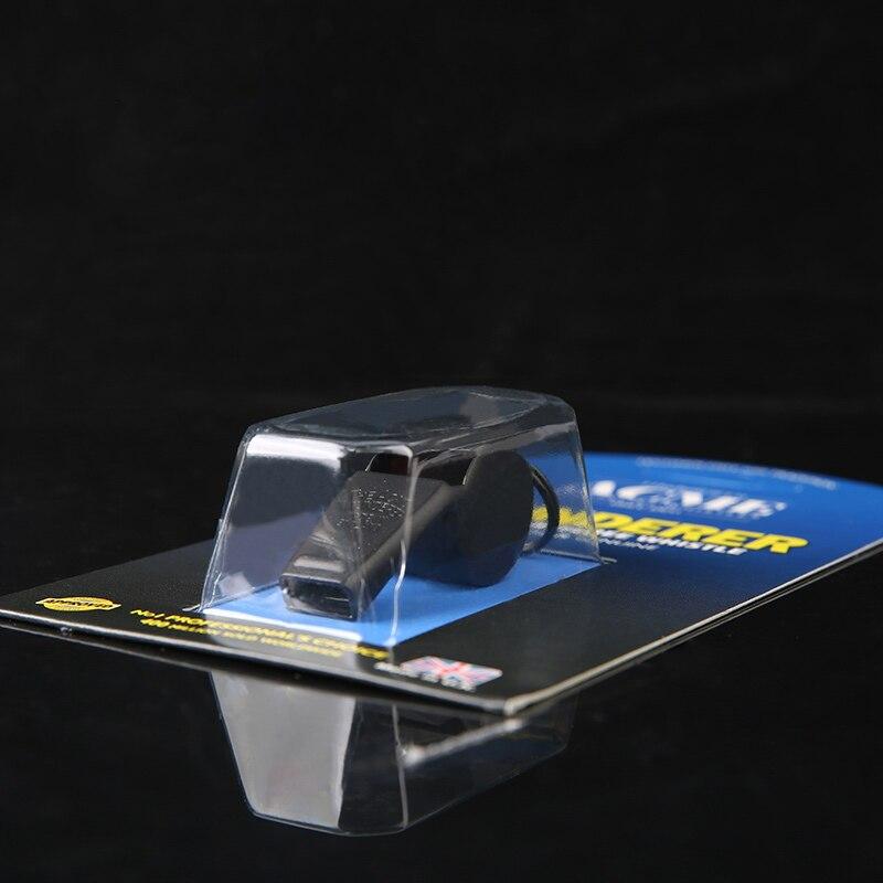 Acme60.5 Carbon Black Referee / Coach Whistle Metal Copper Laser Engraving Survival Whistle