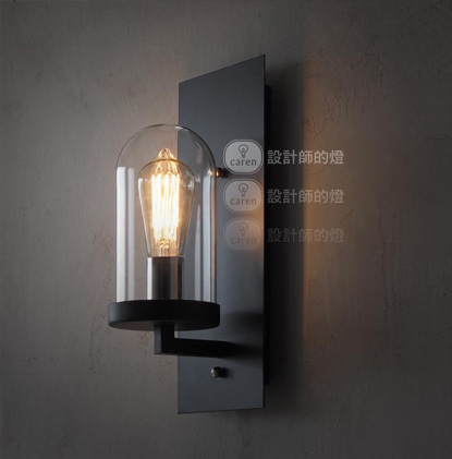 Classical elements 1 head vintage wall lamp Edison wall light glass wall lamp contains bulbs free shipping