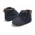 Otoño invierno bebé niños, además de terciopelo zapatos botas para niños chicos causales zapatos Del Niño frente gris traje azul 0-24 M