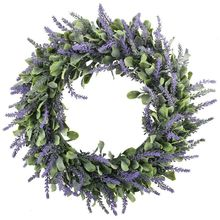 1pcs Lavender Wreath Artificial Door Hanging Flower Summer Party Wedding Decoration DIY Garland