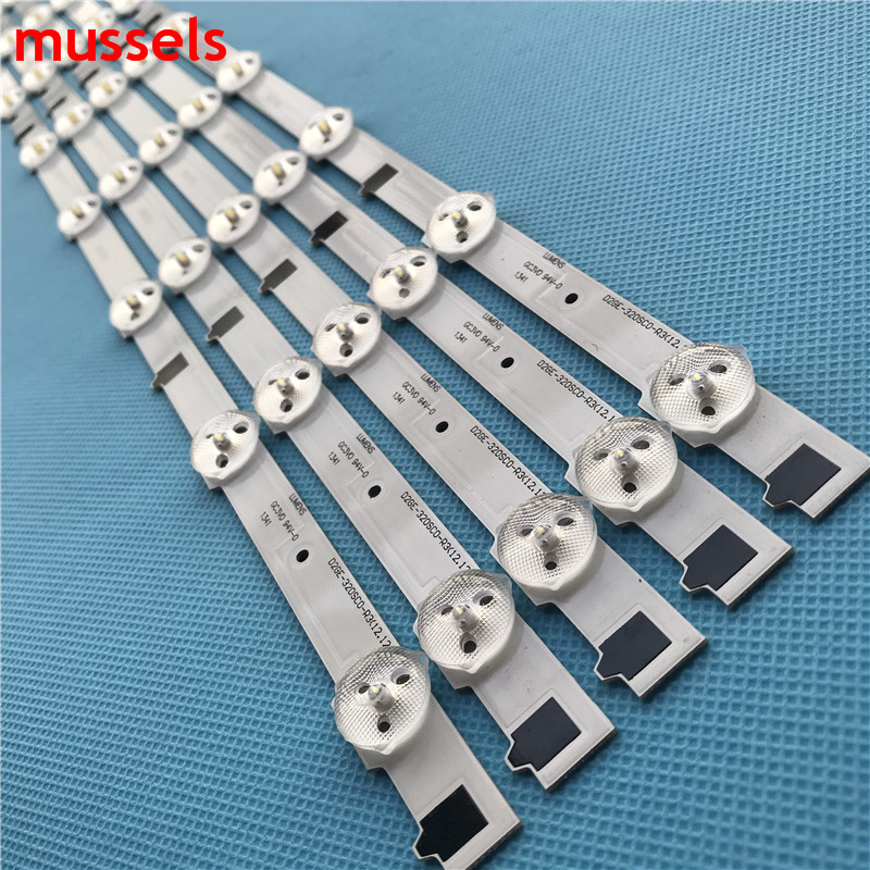 """Image 4 - LEDBacklight strip 9Lamp For Samsung 32"""" TV D2GE 320C0 R3 BN96 25300A UA32F4088AR 2013SVS32H BN96 25299A HF320CSA B1 UA32F5500AR-in Industrial Computer & Accessories from Computer & Office"""