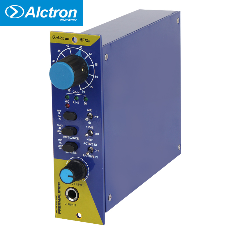Alctron 500 Series Mic/Instrument Preamp with 1073 module, used in recording and stage performance with high quality, low price