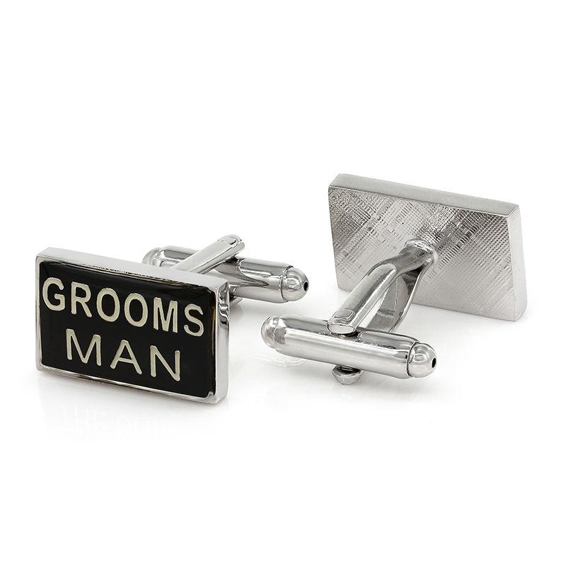 Groom Man Cufflinks Wedding Black Cufflink Shirt Wedding Presents