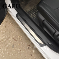 Accessories Door Sill Scuff Plate Guard Stainless Door Sills Protector Sticker For Nissan Qashqai J11 2018 2017 Chromium Styling