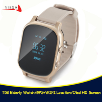 T58 Smart Kid Safe OLED Watch SOS Call GPS WIFI Location Finder Tracker for Child Elder Anti Lost Remote Monitor Baby Wristwatch