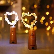 20 LED světýlek na zátce do lahve, krásná dekorace