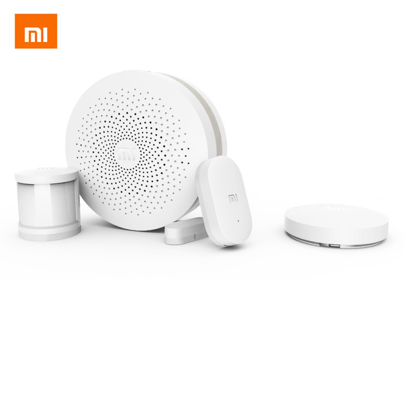 Original Xiaomi Smart Home Security Kit Human Body Sensor Gateway version 2 Window Door Sensor Wireless Switch Plug Controller new gift box original xiaomi smart home kit gateway door window sensor human body sensor wireless switch zigbee socket sets