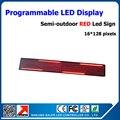 P10 levou módulo de cor vermelho programável levou assinar 24 * 136 cm de rolagem mensagem sinal levou