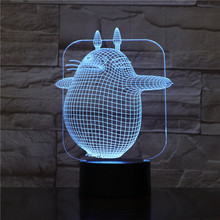3D Illusion Kids Led Nightlight My Neighbor Totoro Night light for Child Bedroom Decor Boys Birthday Gift Lamp