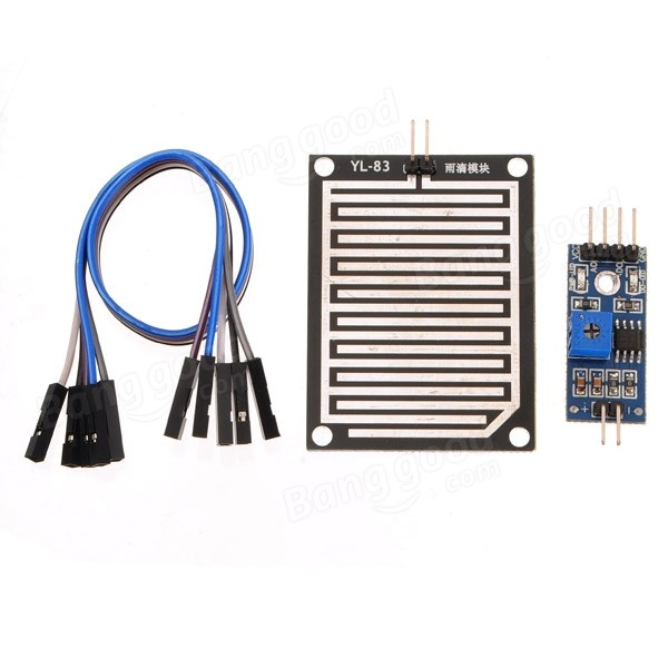 20pcs Snow/Raindrops Detection Sensor Module Rain Weather Module Humidity