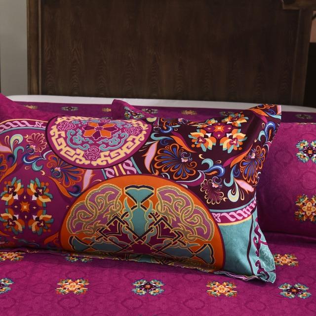 Bohemian style mandala floral bedding 2
