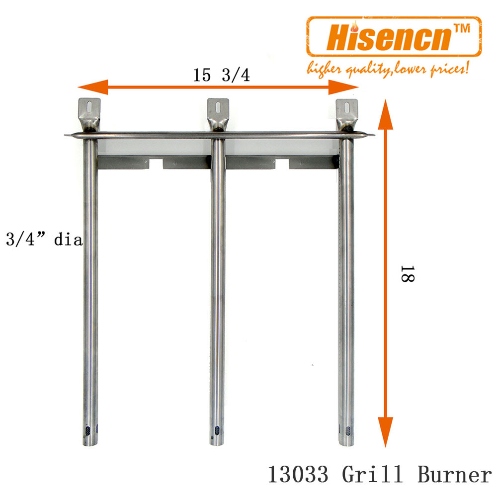 Hisencn 15.8 inch 13033 1pcs Stainless Burners Replacement universal burner for gas barbecue grills For Tuscany SGR30MLP, SGR30M