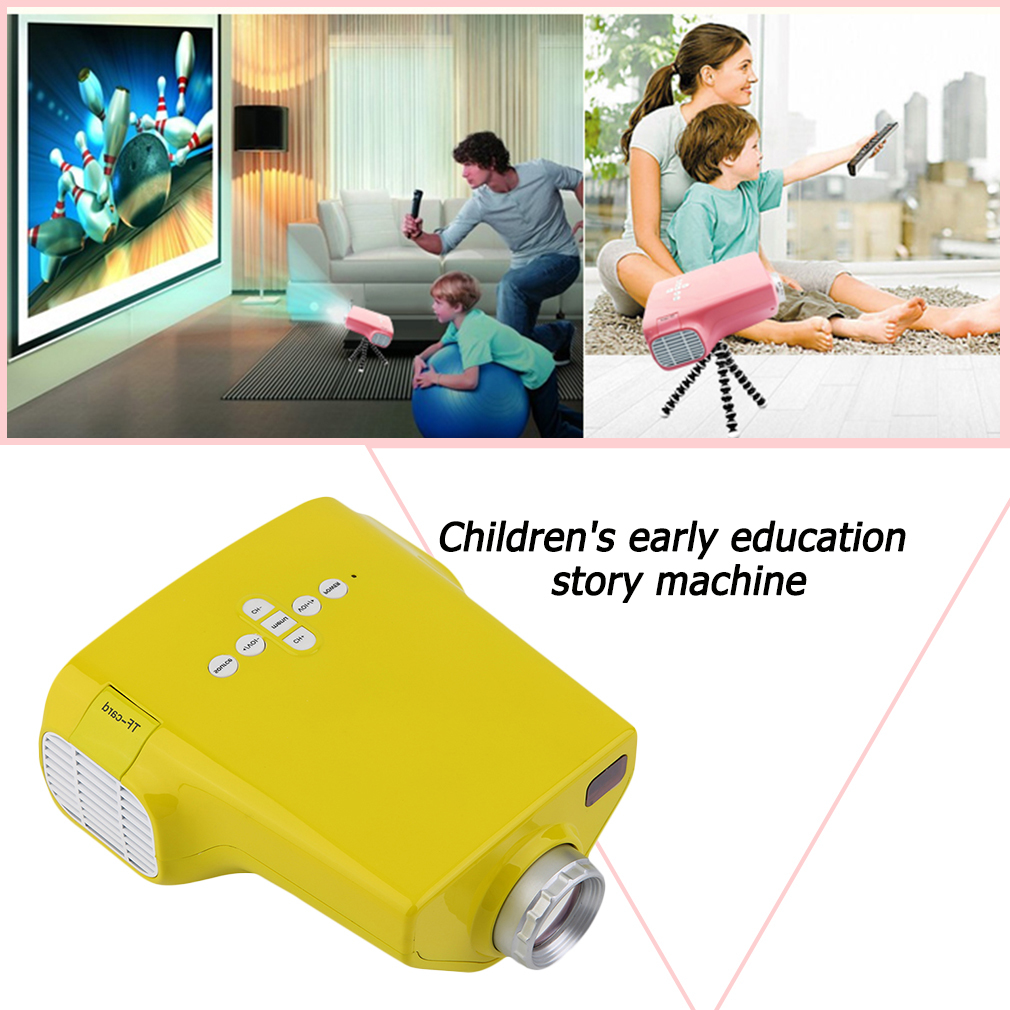 Baby Early Learning and Training Machines Built-In Speakers HDMI For Kids Educational Machine Mini LED Entertainment Projector купить