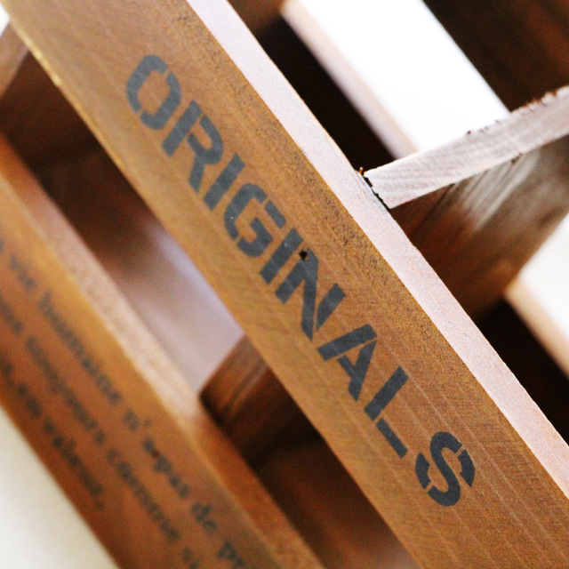Retro Wooden Desktop Pen Box