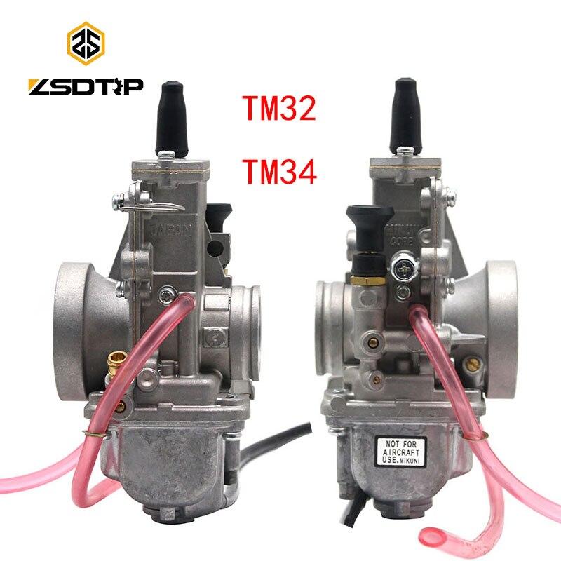 ZSDTRP TM32 TM34 carburateur de moto remplacer Mikuni pour Honda pour Kawasaki 100 125 150 250 CC Scooter ATV moteurs