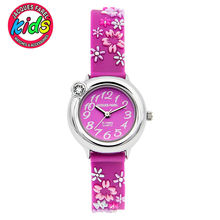 JACQUES FAREL Kids Children watches fashion cute simple waterproof Quartz Wristwatches Flowers clock