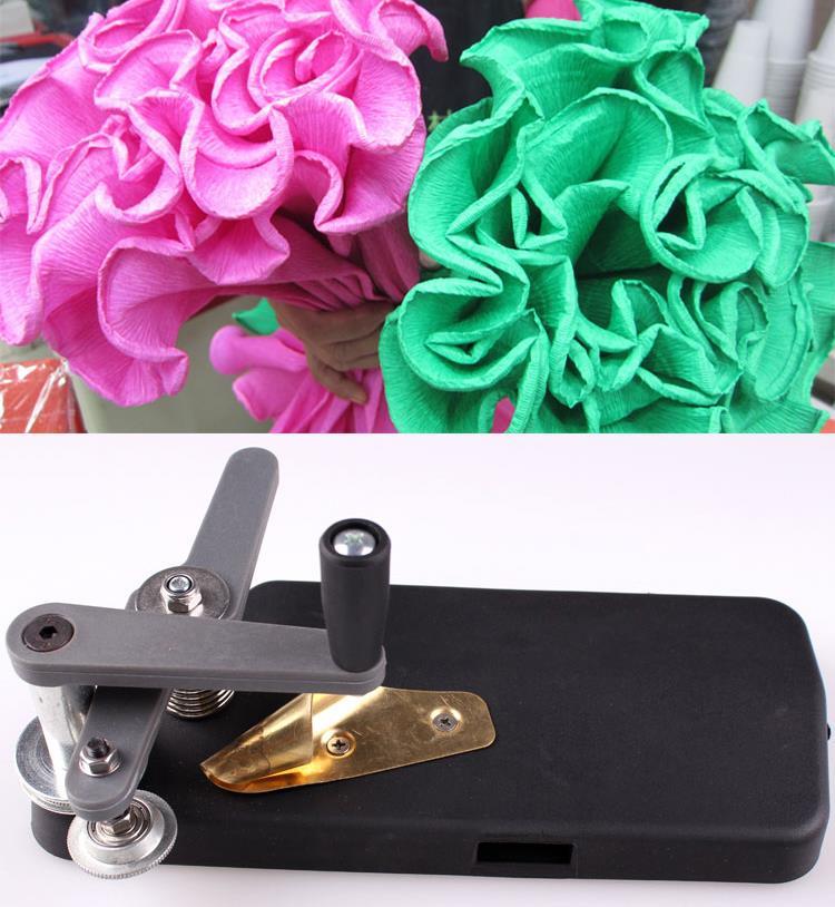 Машина для бумаги с тонкими зубцами и цветами, инструмент для завивки волн, кружева из крепированной бумаги, упаковочные материалы для цвет...
