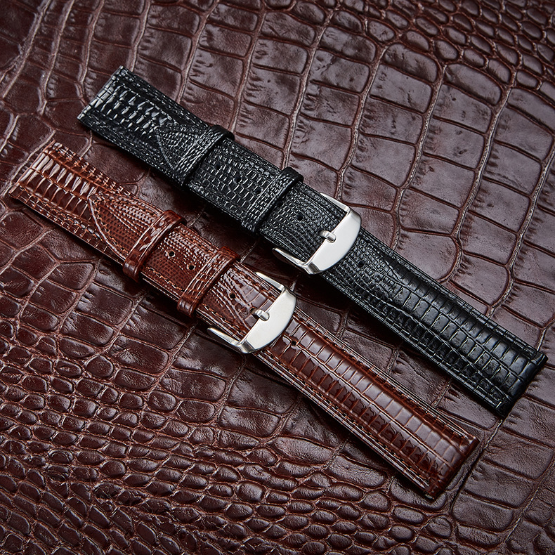 Crocodile Pattern Genuine Cow Leather Strap Watch Band Strap for Hours Watchband 12 14 16 18 19 20 21 22 24mm for branded watch crocodile skin pattern cow leather wristwatch strap watchband black size 20l