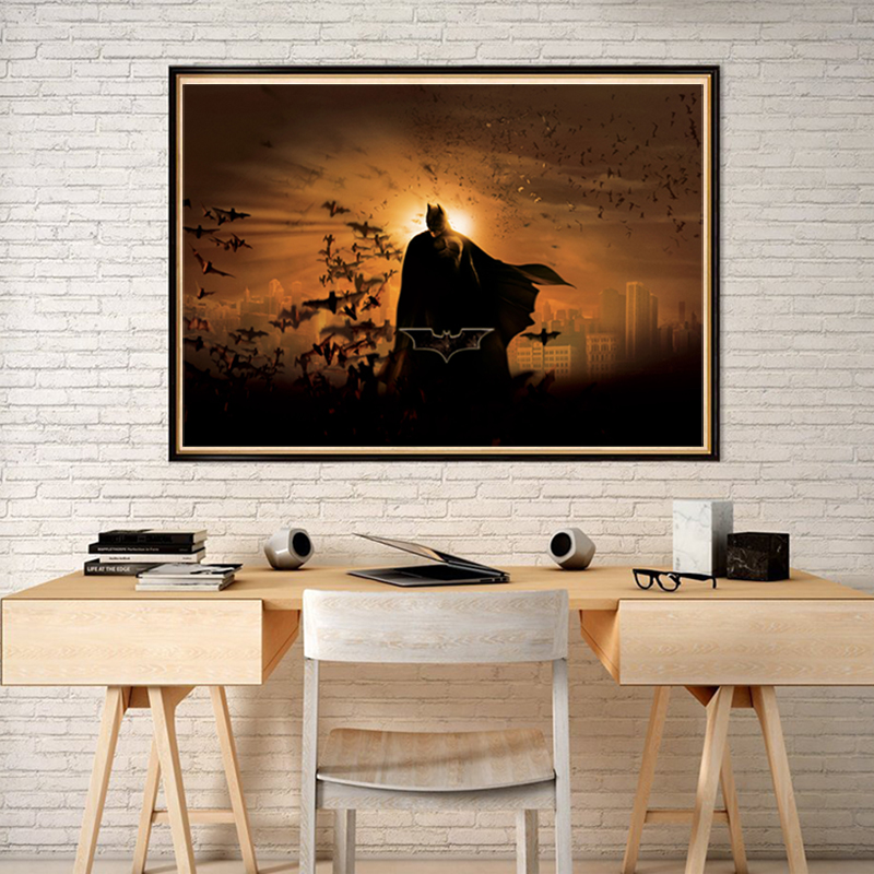 DC Comics Nordic Painting Marvel Superheroes Posters and Prints Decorative Wall Art Pictures for Living Room Home Decoration image