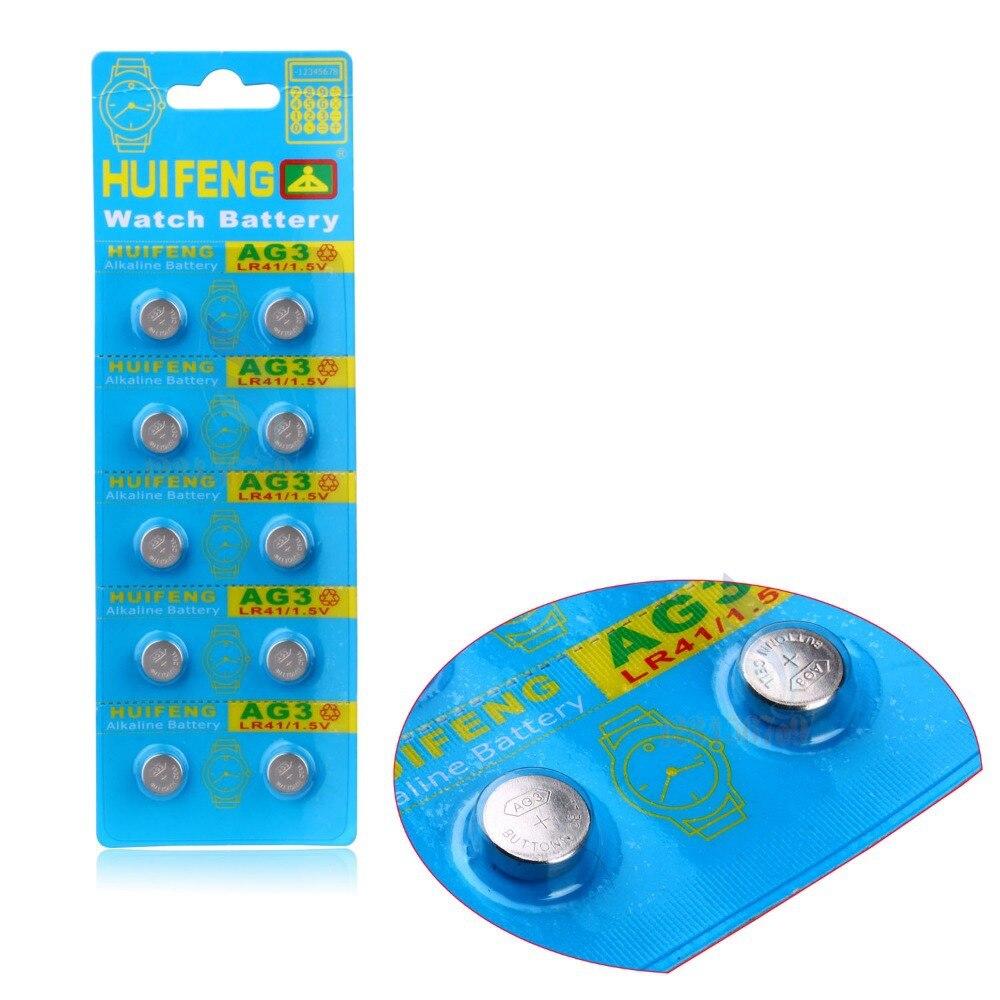 Botão Baterias Celulares para relógio, 10 pcs ag3 Bateria : Alkaline Bateria