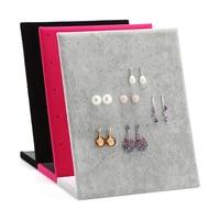 Fashion L Shaped Velvet 30 Pairs Dangle Earring Stand Holder Earrings Ear Studs Jewelry Display Shelf