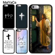 Christ Jesus Bible Verse Cross Case For iPhone 12 Mini 11 Pro MAX X XR XS MAX SE 2020 6S 7 8 Plus 5s Cover