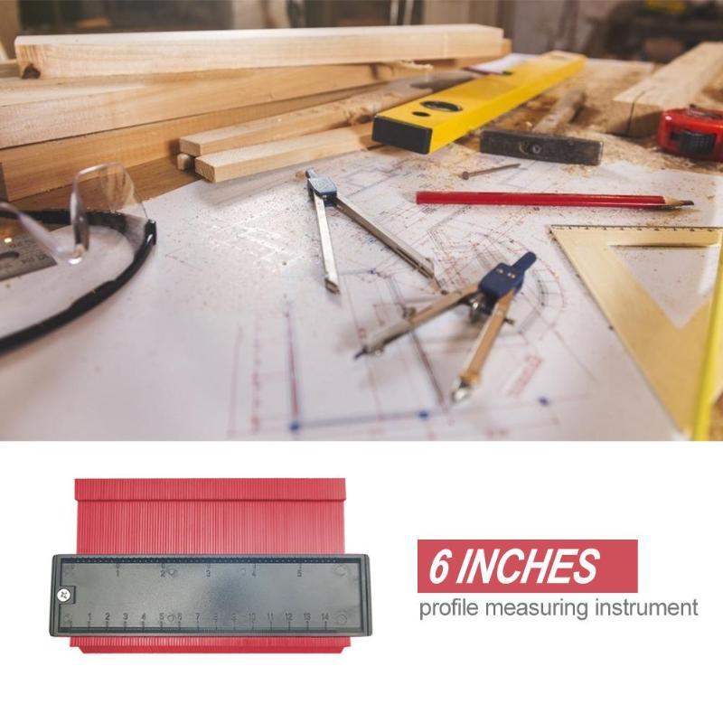 Image 2 - 5/6/10/20 Inch Plastic Profile Copy Gauge Contour Gauge Duplicator Standard Wood Marking Tool Tiling Laminate Tiles General Tool-in Gauges from Tools