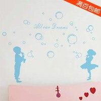 Soufflant des bulles carte fraîche joie mettre le salon le mur de la chambre Enfants chambre salle de bains décoratif verre feuilleté
