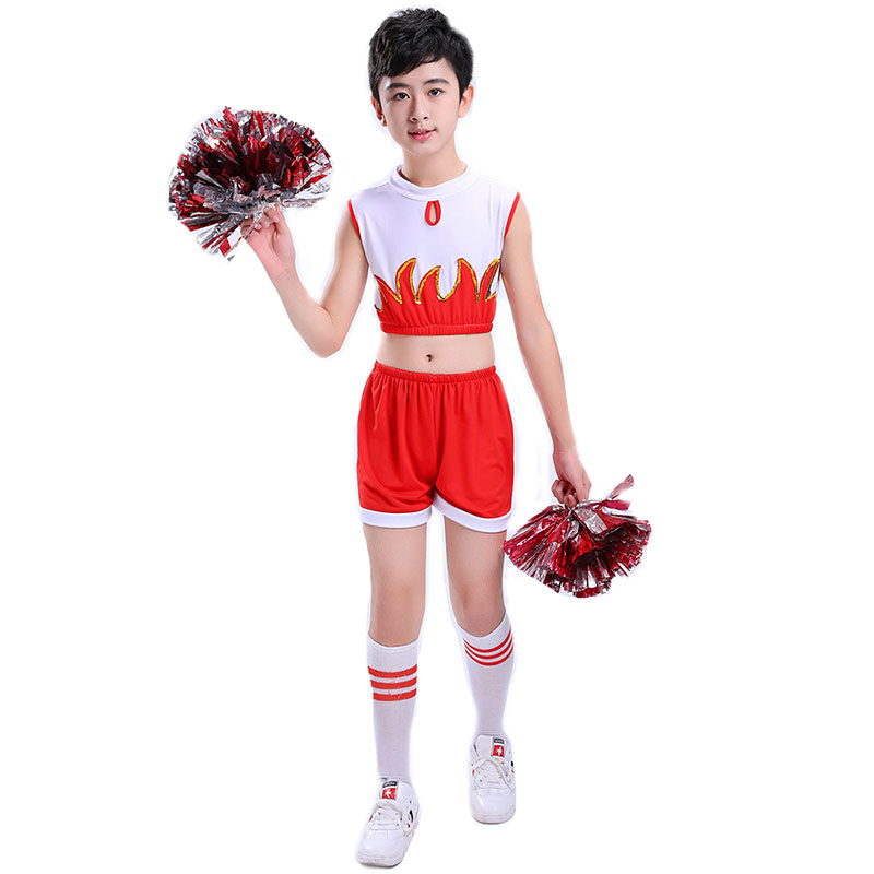 Boy Cheerleaders Suit For Boys School Cheer Team Uniforms Kids Performance  Competition Costume Sets Girls Cheerleading Suits School Uniforms  -  AliExpress