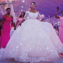 SZWBridal Ball Gown Wedding Dresses 2019 casamento Flower