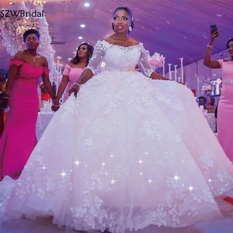 Ivory Ball Gown Wedding Dress: New Arrival Ball Gown Wedding Dresses 2019 Casamento